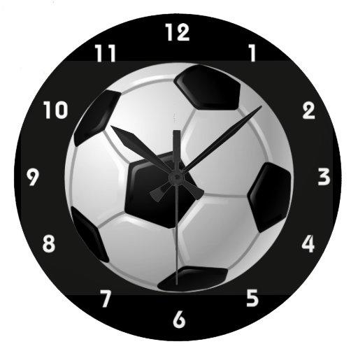 Football Design Wall Clock : Soccer ball design wall clock zazzle