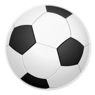 Soccer Ball Drawer Pull Ceramic Knob