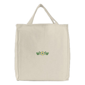 Soccer Ball Embroidered Tote Bag