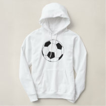soccer ball embroidered logo embroidered hoodie