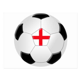 Soccer Ball – England Postcard