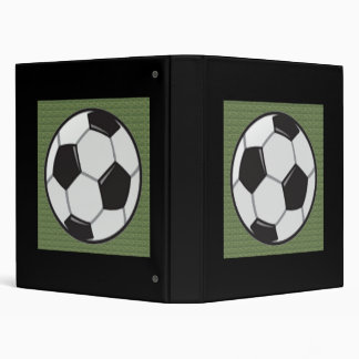 Soccer Ball Field 3 Ring Binder