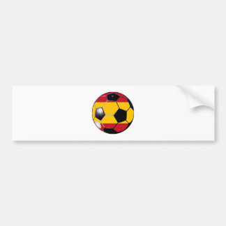 Soccer Ball Flag-Spain The MUSEUM Gifts Transp Bumper Stickers