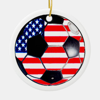 Soccer Ball Flag USA The MUSEUM Gifts Ornament