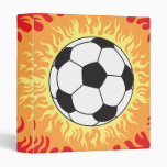 soccer ball flames design vinyl binder