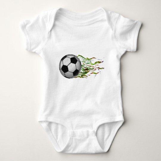 Soccer Ball Flames World Cup Futbol Baby Bodysuit