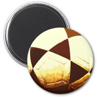 Soccer Ball - Football Ball 2 Inch Round Magnet
