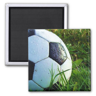 Soccer Ball - Football Ball 2 Inch Square Magnet