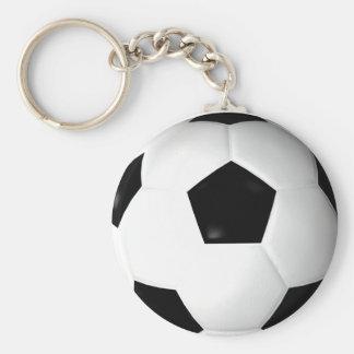 Soccer Ball ( Football ) Basic Round Button Keychain