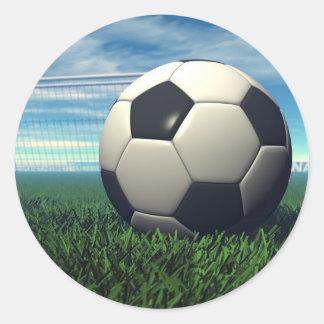 Soccer Ball (Football) Classic Round Sticker
