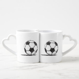 Soccer Ball, Football, Fussball, Team Sport Coffee Mug Set