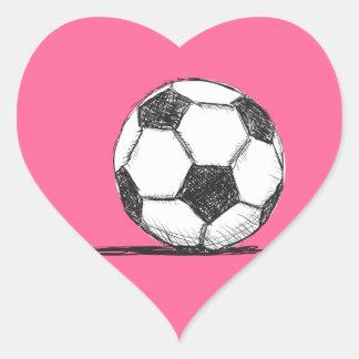 Soccer Ball, Football, Fussball, Team Sport Heart Sticker