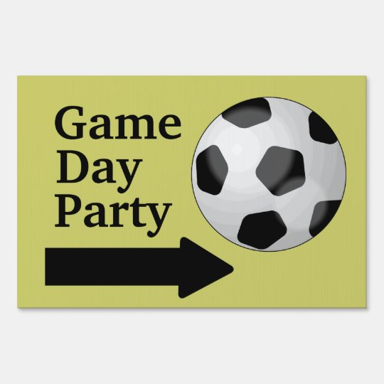 Soccer Ball Football Game Day Party Customizable Yard Sign