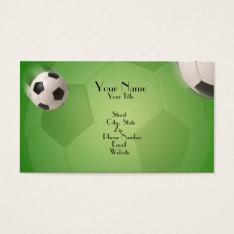 Soccer Ball Football Goal - Business Card at Zazzle
