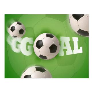 Soccer Ball Football Goal - Postcard