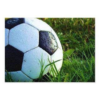 Soccer Ball - Football Invitation