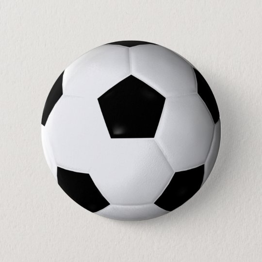 Soccer Ball ( football ) Pinback Button