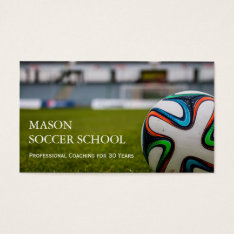 Soccer Ball - Football School Coach Business Card at Zazzle