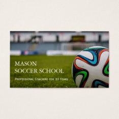 Soccer Ball - Football School Coach Business Card at Zazzle
