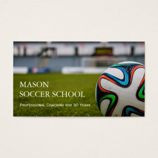 Soccer Ball - Football School Coach Business Card