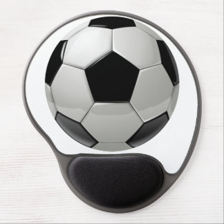 soccer ball for athletic man and football fun. gel mouse pad