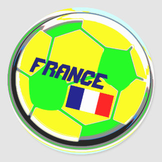 Soccer Ball France Classic Round Sticker