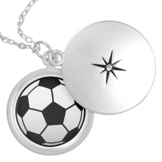 Soccer Ball Futbol products Round Locket Necklace