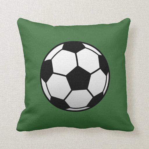 Squishy Soccer Ball Pillow : Soccer Ball Futbol products Throw Pillows Zazzle