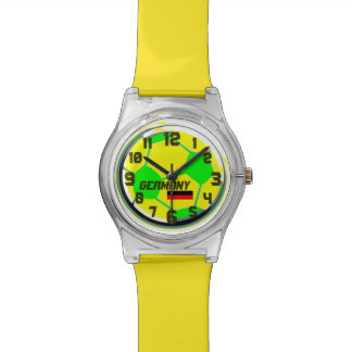 Soccer Ball German flag customizable name Germany Watches