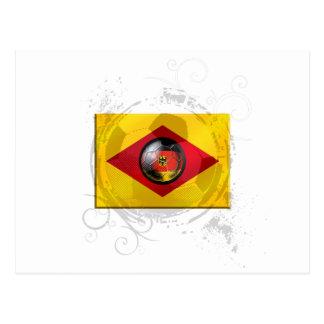 Soccer ball Germany Brazil Style Post Card