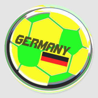 Soccer Ball Germany Classic Round Sticker