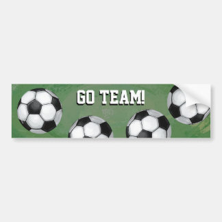 Soccer Ball, Go Team Bumper Sticker