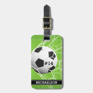 Soccer Ball GOAL Bag Tag