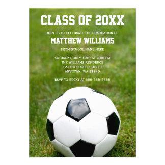 Soccer Ball Graduation Party Announcement
