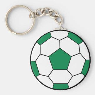 Soccer Ball Green Keychain