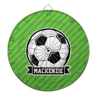 Soccer Ball; Green Stripes Dart Board