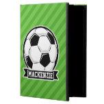 Soccer Ball; Green Stripes iPad Air Case
