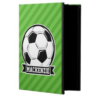 Soccer Ball; Green Stripes iPad Air Cover