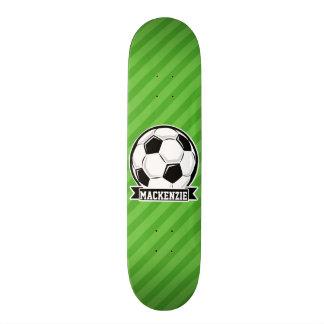 Soccer Ball; Green Stripes Custom Skate Board