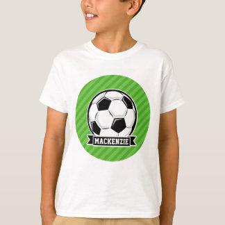 Soccer Ball; Green Stripes T-Shirt
