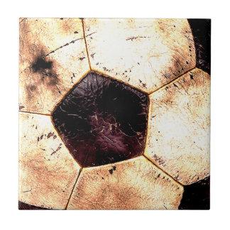 Soccer Ball Grunge Style Ceramic Tile
