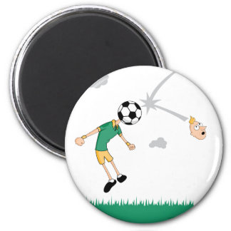 Soccer Ball Header 2 Inch Round Magnet