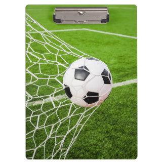 Soccer Ball Hitting Goal Net Clipboards
