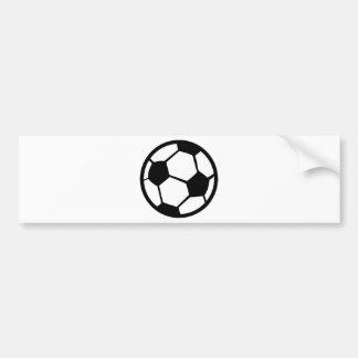 soccer ball icon bumper sticker