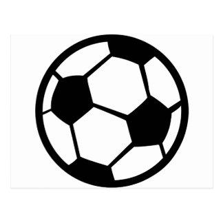 soccer ball icon postcard