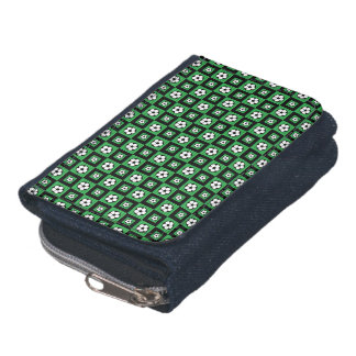 Soccer Ball Icon Seamless Pattern Wallet