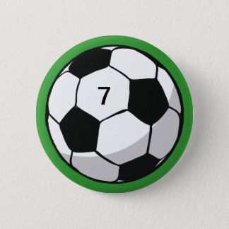 Soccer Ball Illustration Button