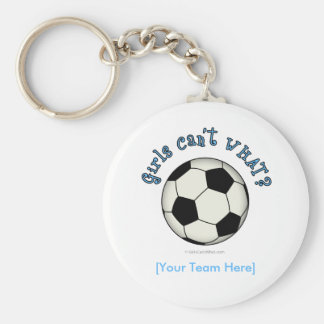 Soccer Ball in Black Keychain