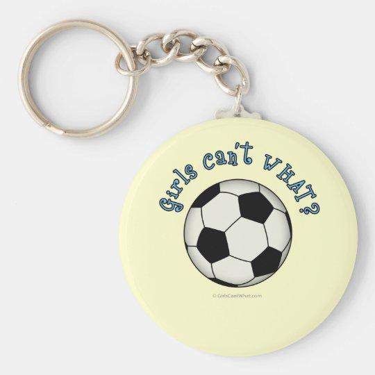 Soccer Ball in Black Keychain