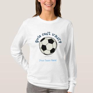 Soccer Ball in Black T-Shirt